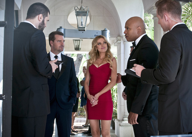 "Chris O'Donnell as G. Callen, Bar Paly as Anastasia ""Anna"" Kolcheck, and LL COOL J as Sam Hanna"