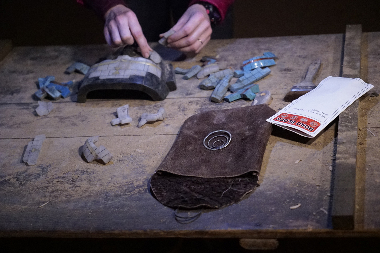 It takes a lot of patience to piece together 13 artifacts into a mask.