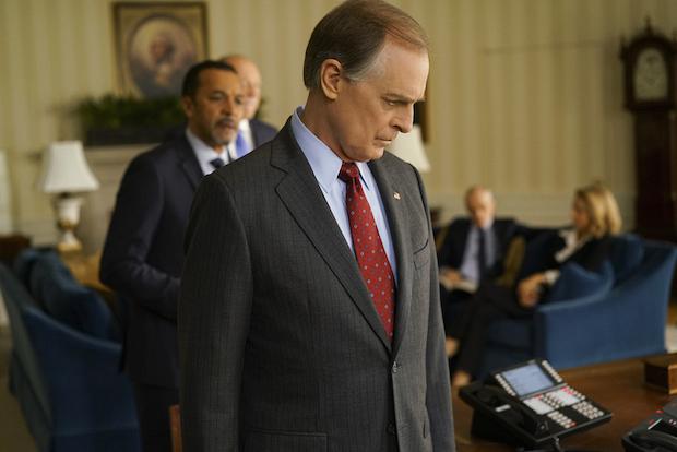 President Conrad Dalton manages numerous political threats.