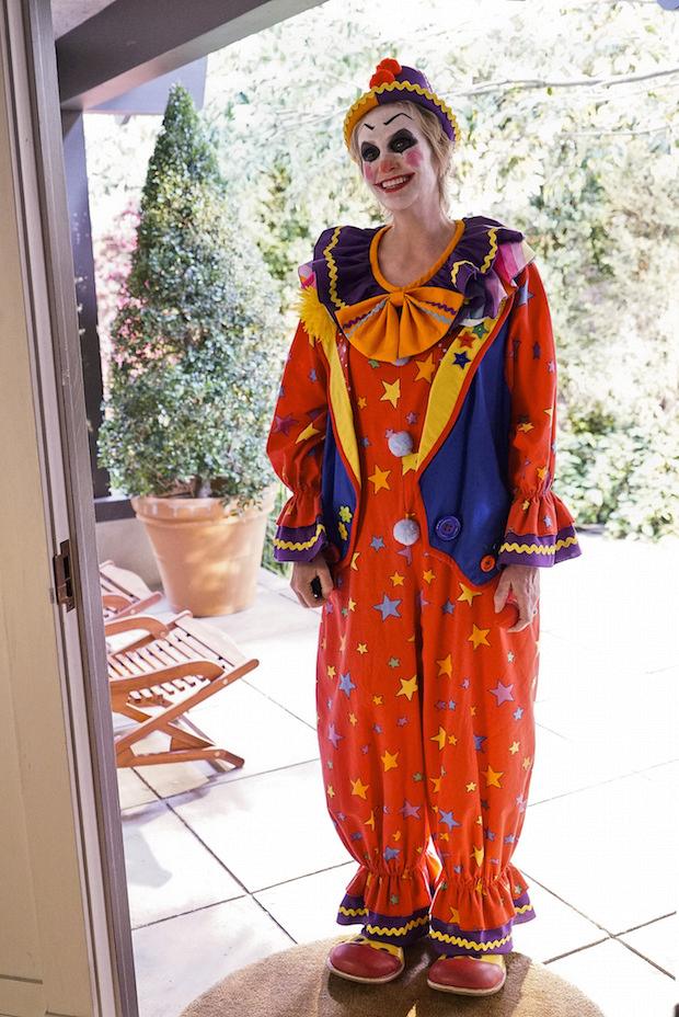 Amy loves to clown around.