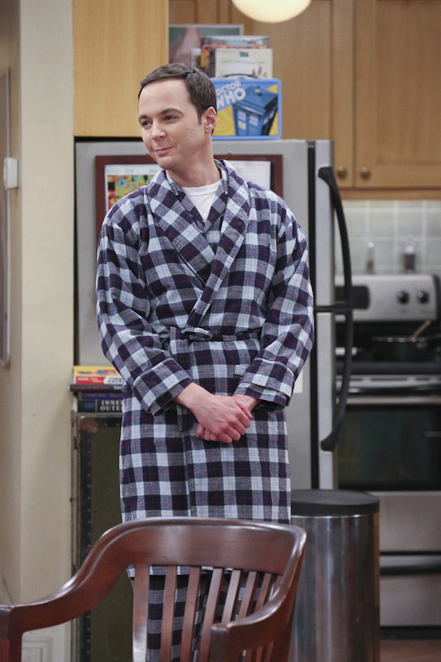 Sheldon's friends find it hard to be around him when he's sick.