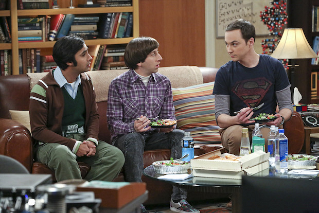 Sheldon can't help but to speak his mind to Howard and Raj.