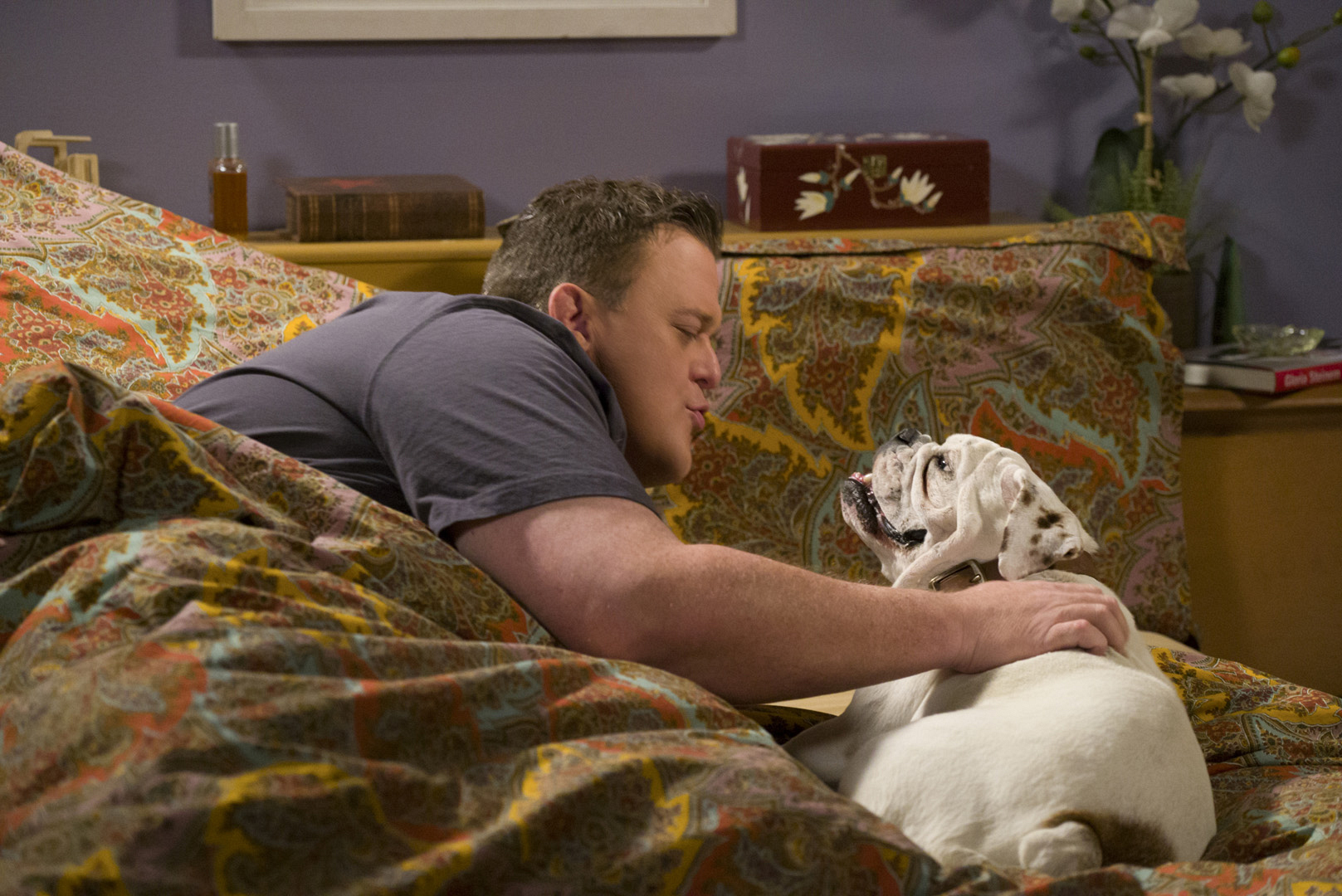 Mike can't get enough of having a sweet pup around.
