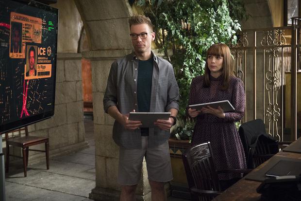 Barrett Foa as Eric Beale and Renée Felice Smith as Nell Jones