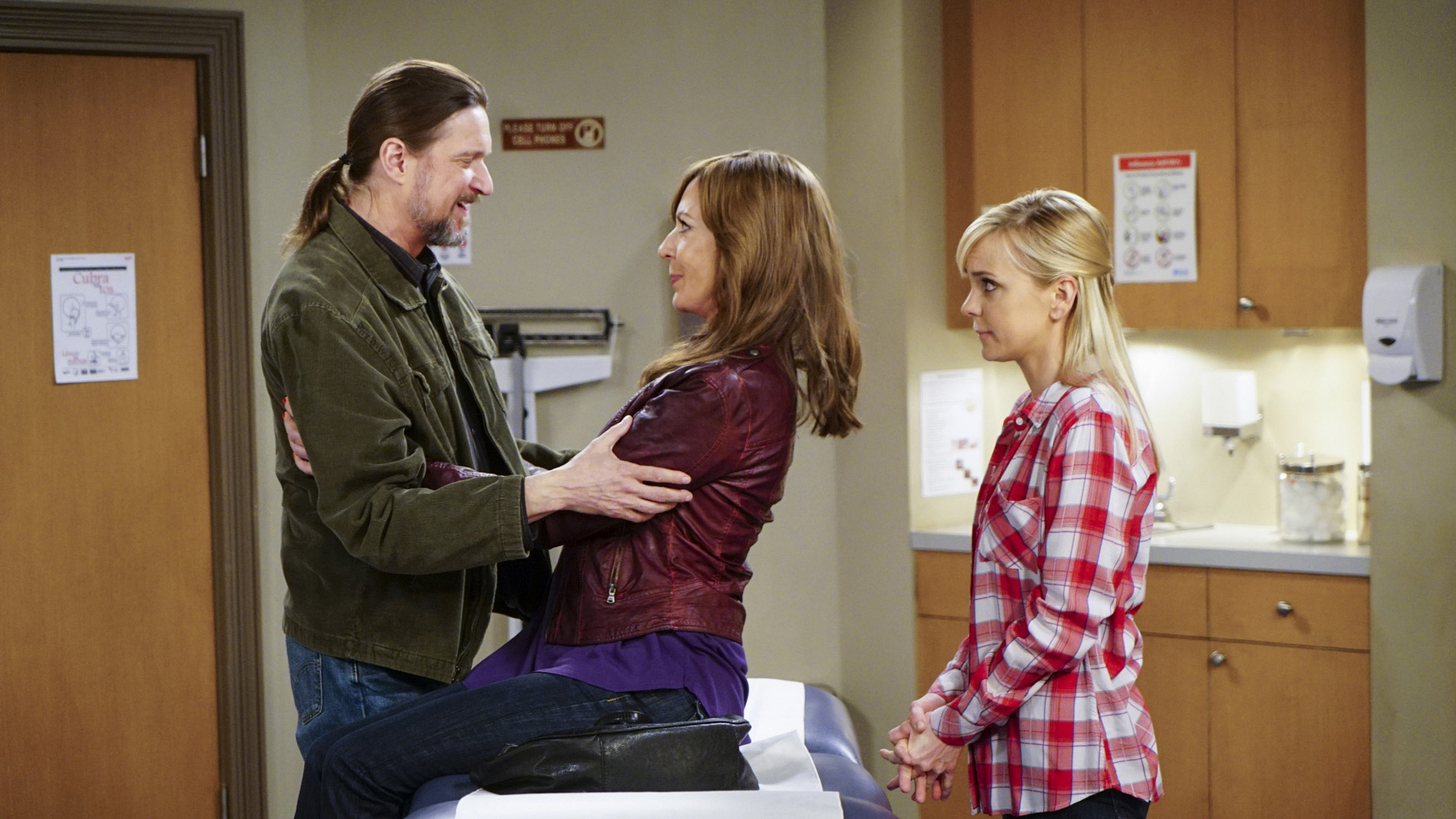 Steve joins Bonnie and Christy in the doctor's office.