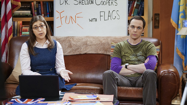 Sheldon's enthusiasm fades as Fun With Flags becomes a therapy session for Raj.