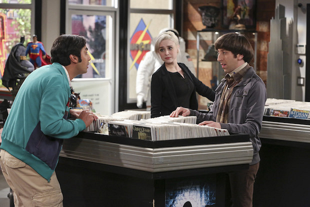 A new girl catches Raj's eye at the comic-book store.