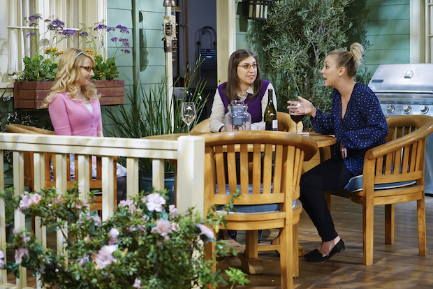 Bernadette tells Amy and Penny about her big news.