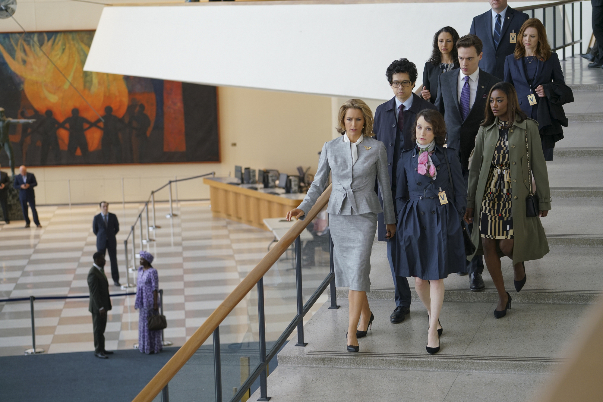 The team departs the United Nations.