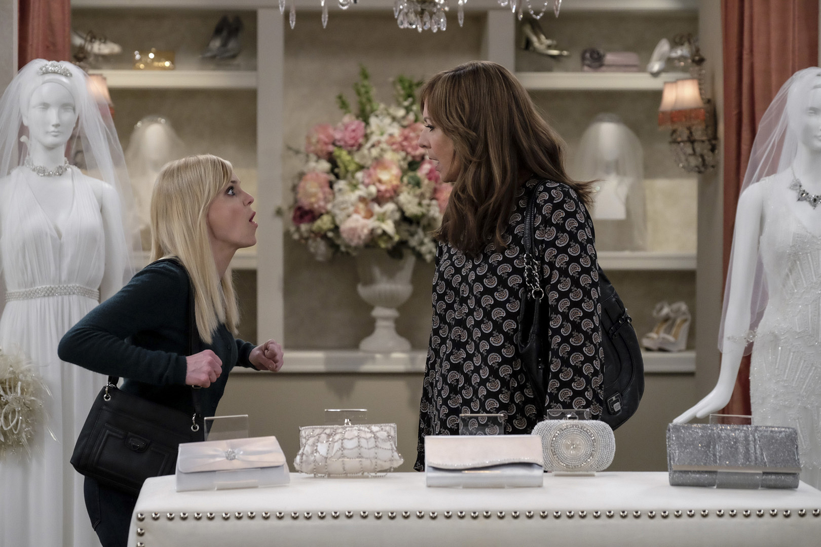 Christy and Bonnie continue to bicker while shopping for Violet's special day.
