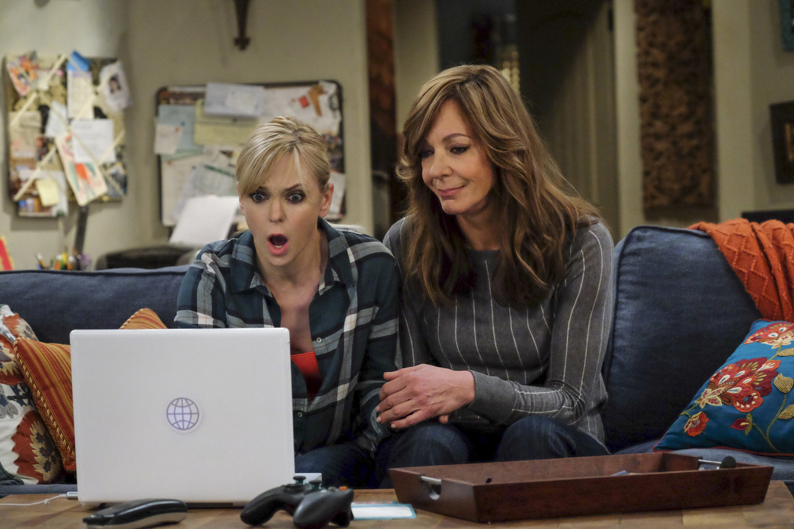 Christy asks for Bonnie's support as she prepares to see her final exam scores online.