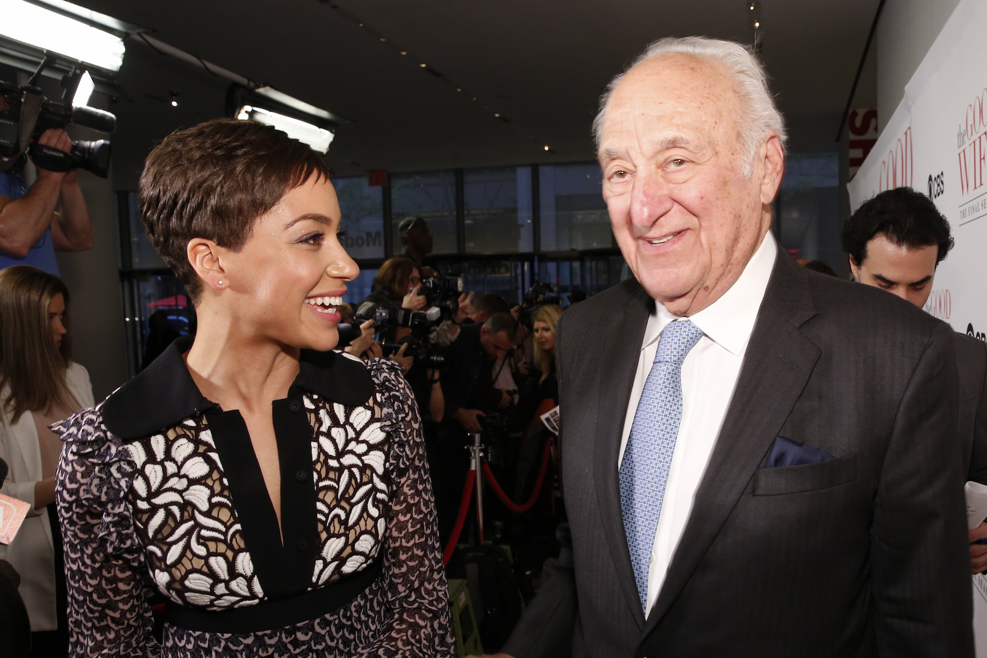 Cush Jumbo and Jerry Adler