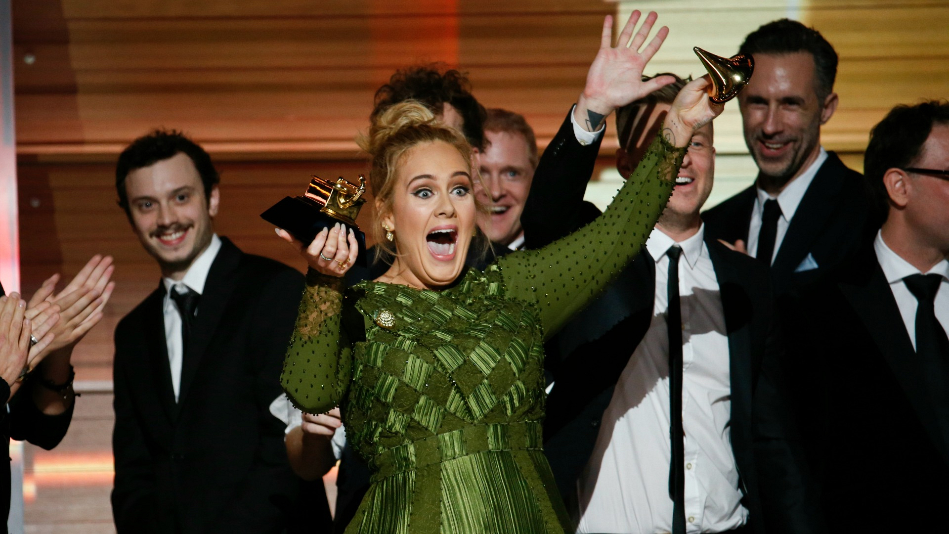 Adele wins Album Of The Year at the 2017 GRAMMY Awards
