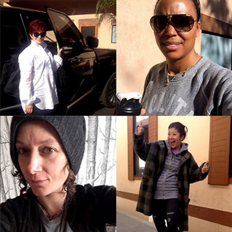 9. The Ladies Made Themselves Comfortable.