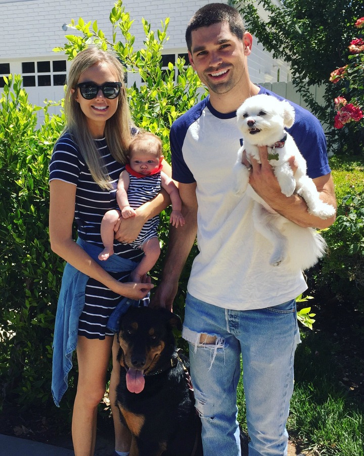 Melissa Ordway (Abby Rayburn) and her husband, Justin, opted for a staycation with daughter Olivia and trusty companions, Lily and Buddy.