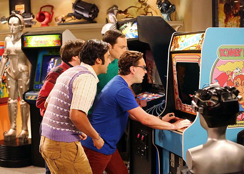 13. Playing arcade games