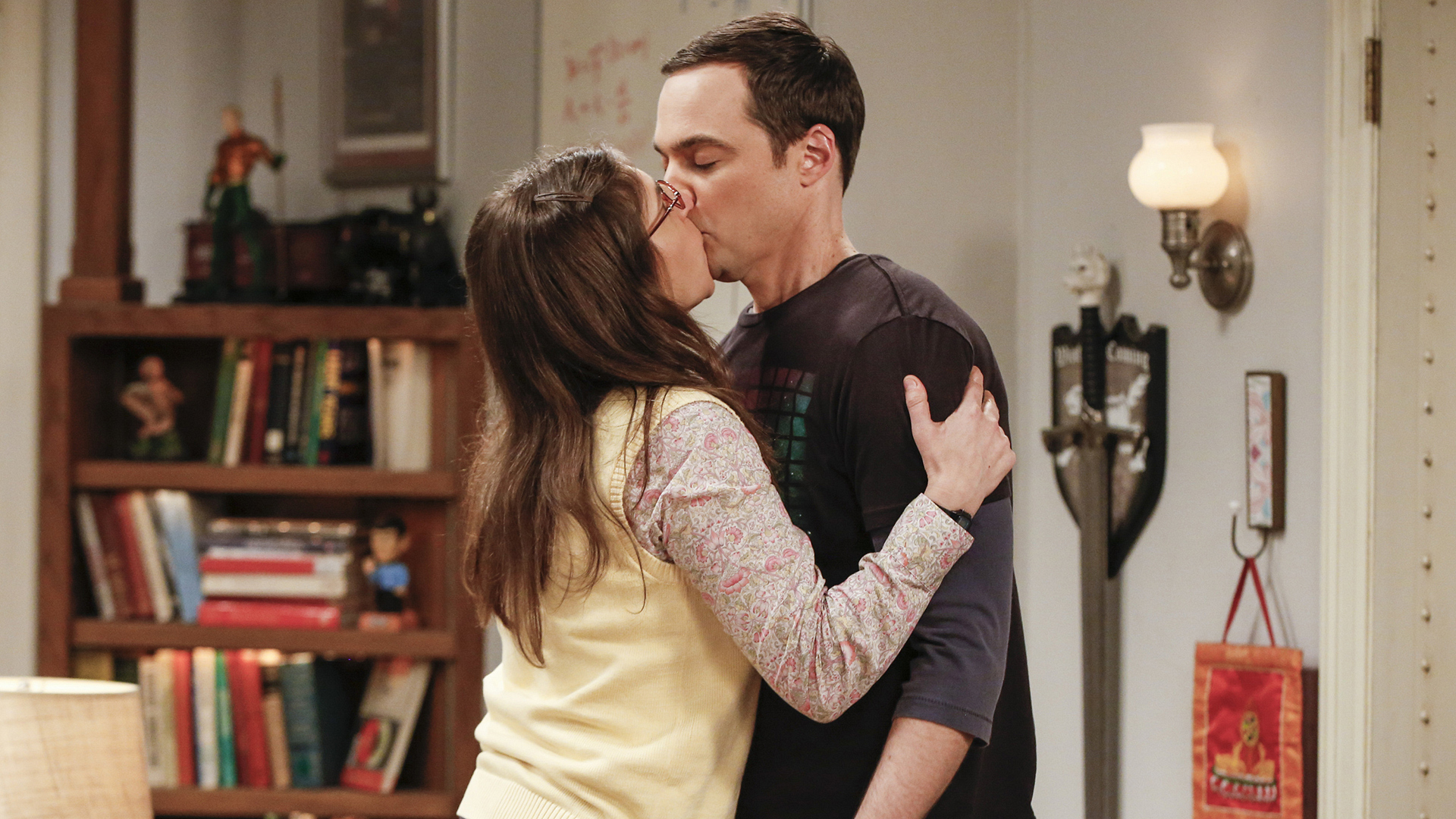 Her first-ever kiss was on TV.