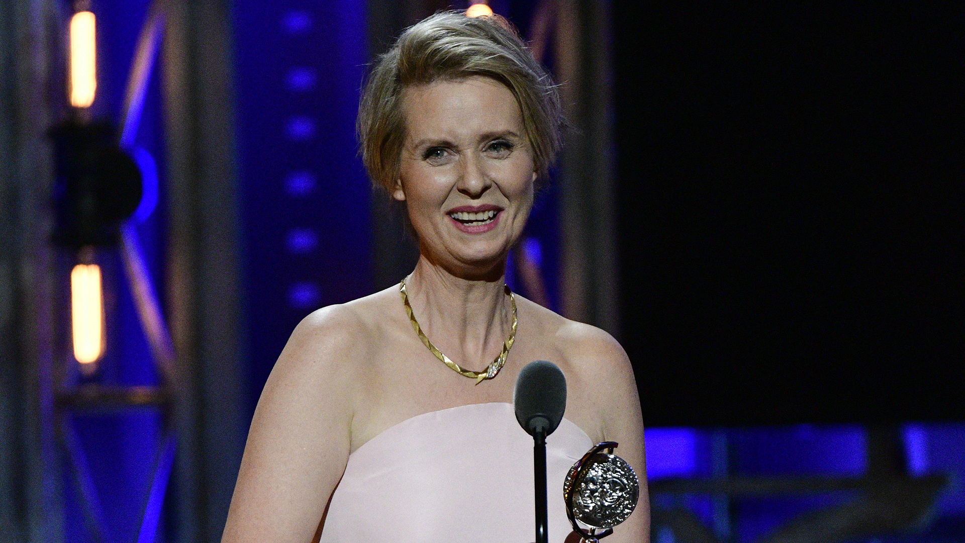 Cynthia Nixon wins the 71st Annual Tony Award for Best Performance by an Actress in a Featured Role in a Play