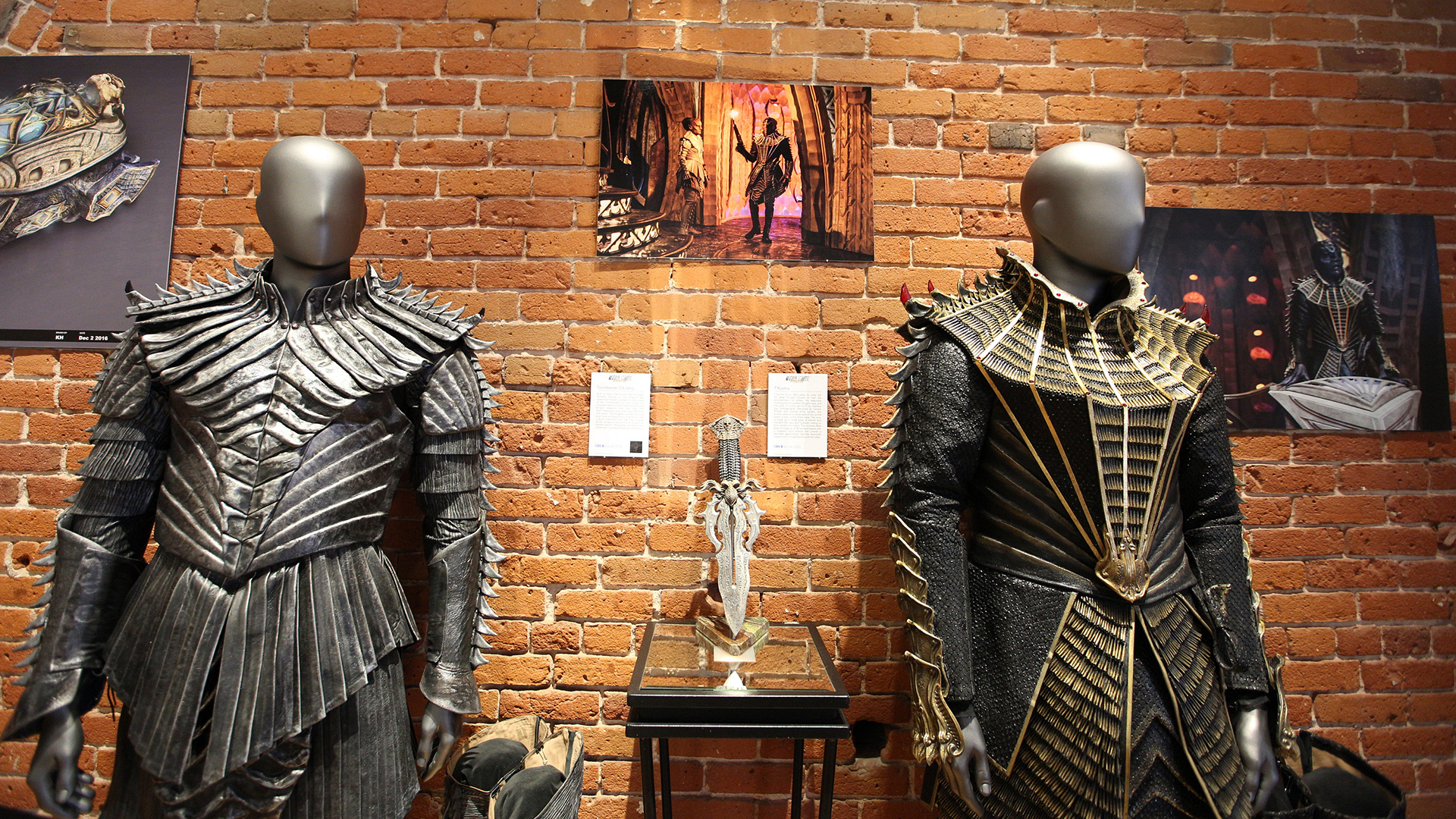 Costumes and props on display at Michael J. Wolf Fine Arts in San Diego