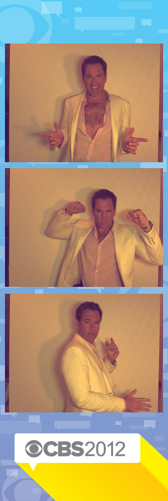 Michael Weatherly in the TCAs Photo Booth