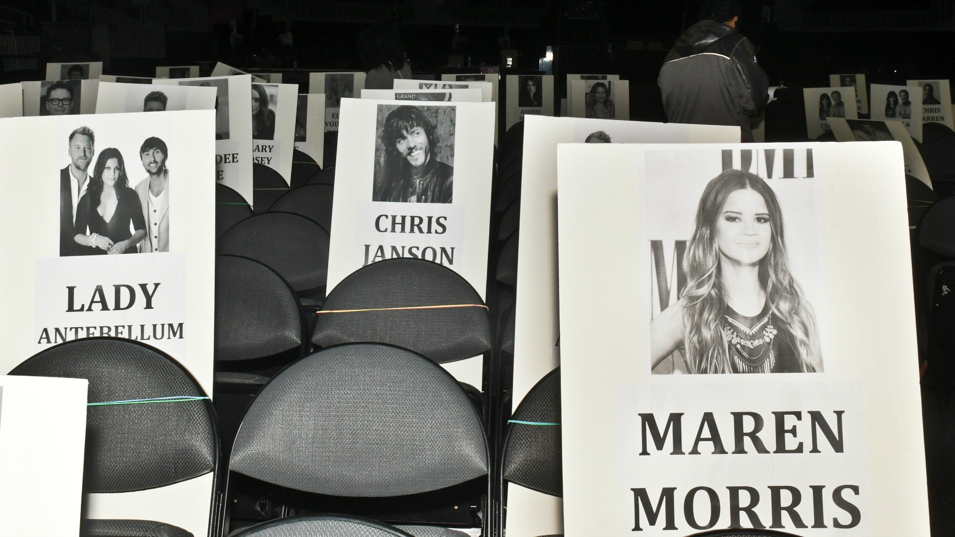 Nominees Lady Antebellum, Chris Janson, and Maren Morris make for one talented audience.