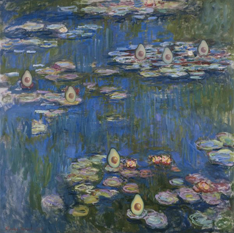 Water Lilies with Avocado, Claude Monet, 1916