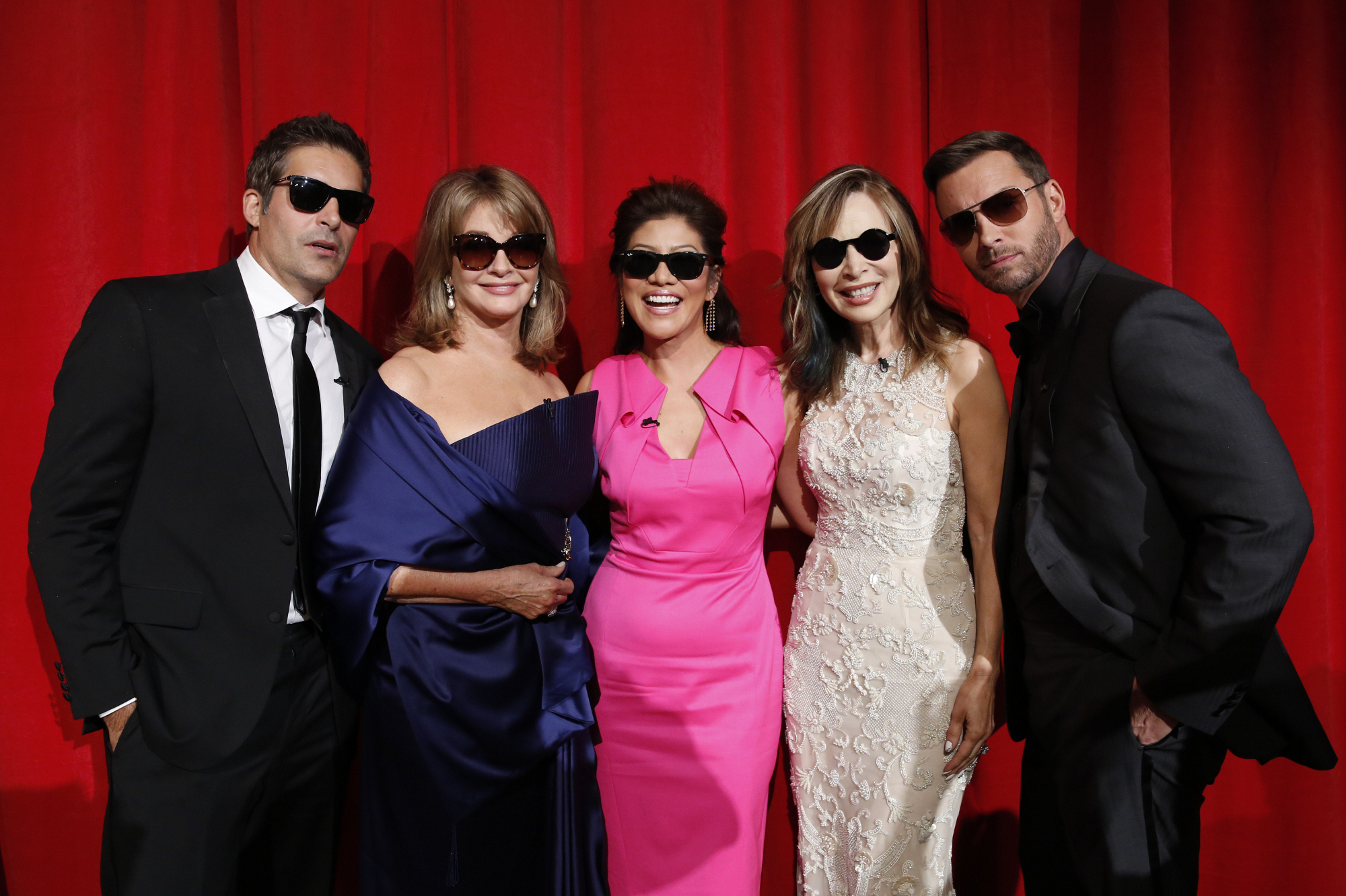 "Julie with ""Days of Our Lives"" Cast Members"