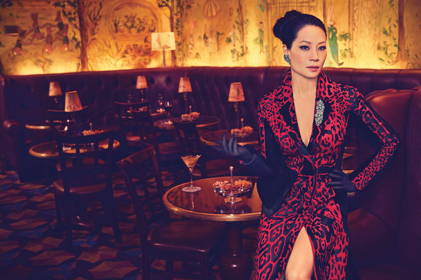 What's not to love about Lucy Liu's bold look?