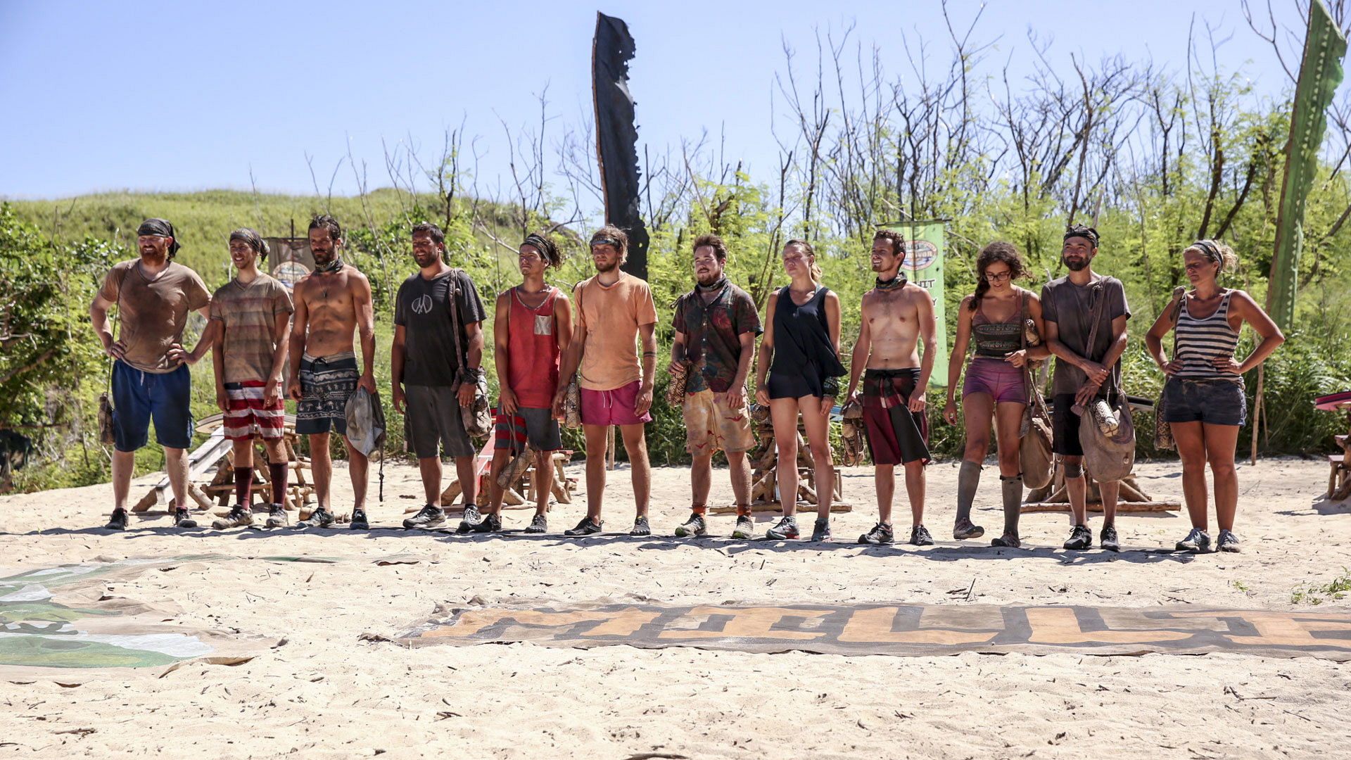 The castaways get ready to hear about their next Individual Immunity Challenge.