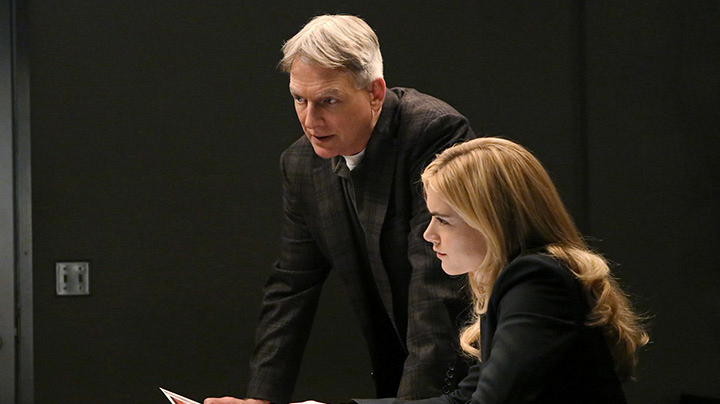 Getting your coworker to confess to the theft? Gibbs and Bishop interrogate.