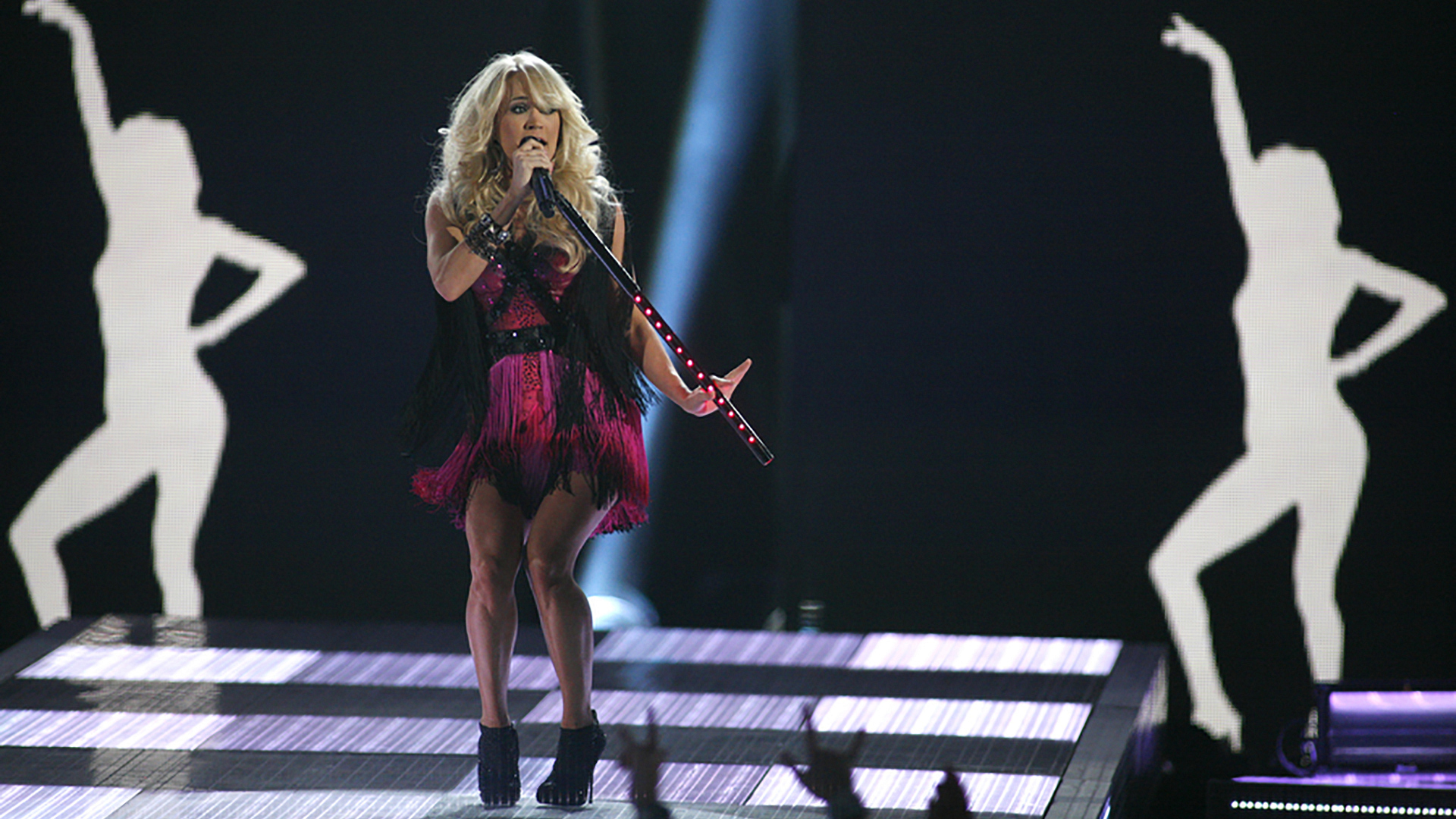 "30. Carrie Underwood performs ""Good Girl"" at the 47th ACM Awards in 2012."