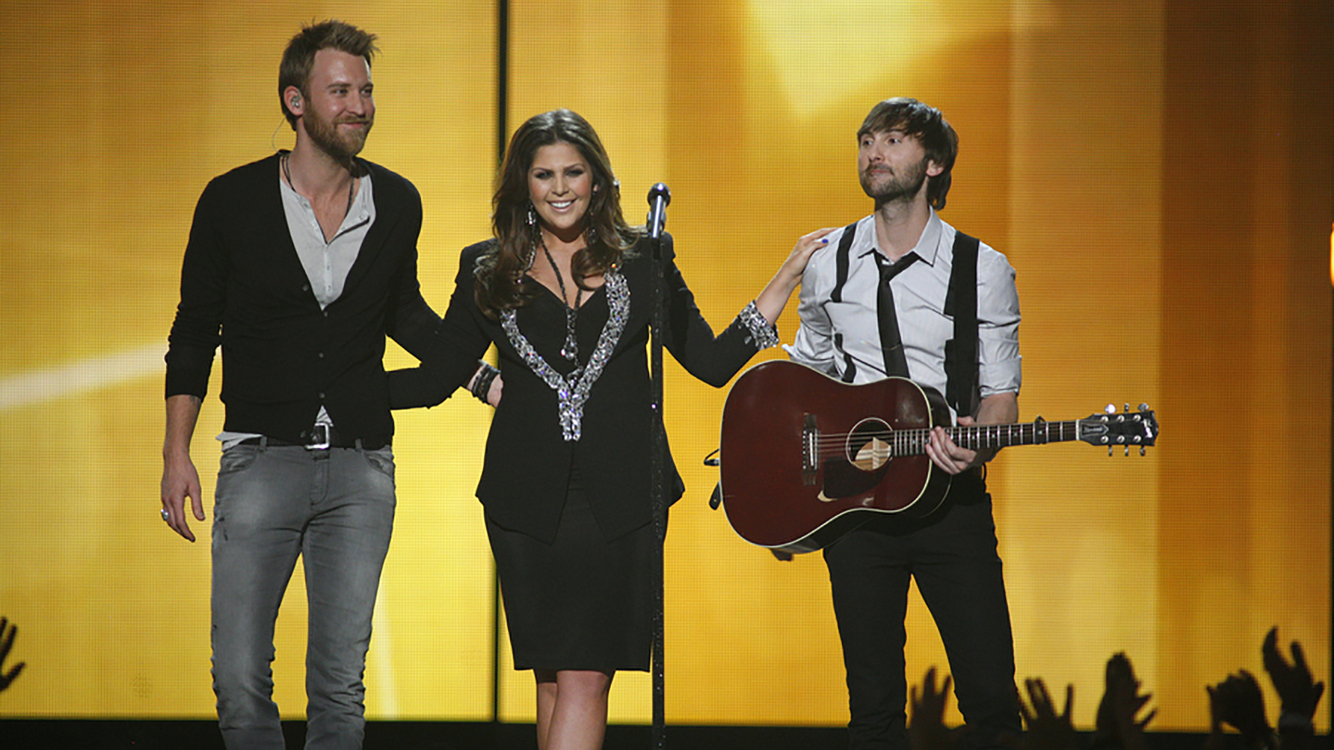 "34. Lady Antebellum perform ""Dancin' Away With My Heart"" at the 47th ACM Awards in 2012."