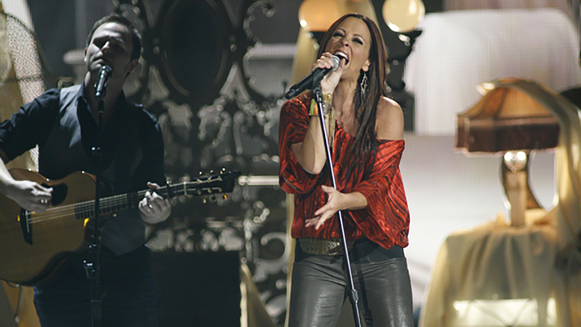 "23. Sara Evans performs ""A Little Bit Stronger"" at the 47th ACM Awards in 2012."