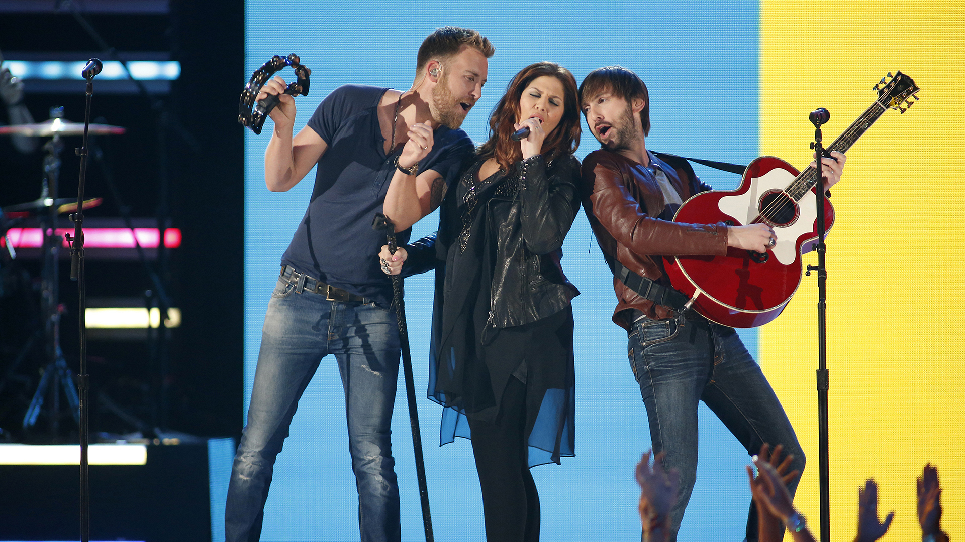 "13. Lady Antebellum perform ""Downtown"" at the 48th ACM Awards in 2013."