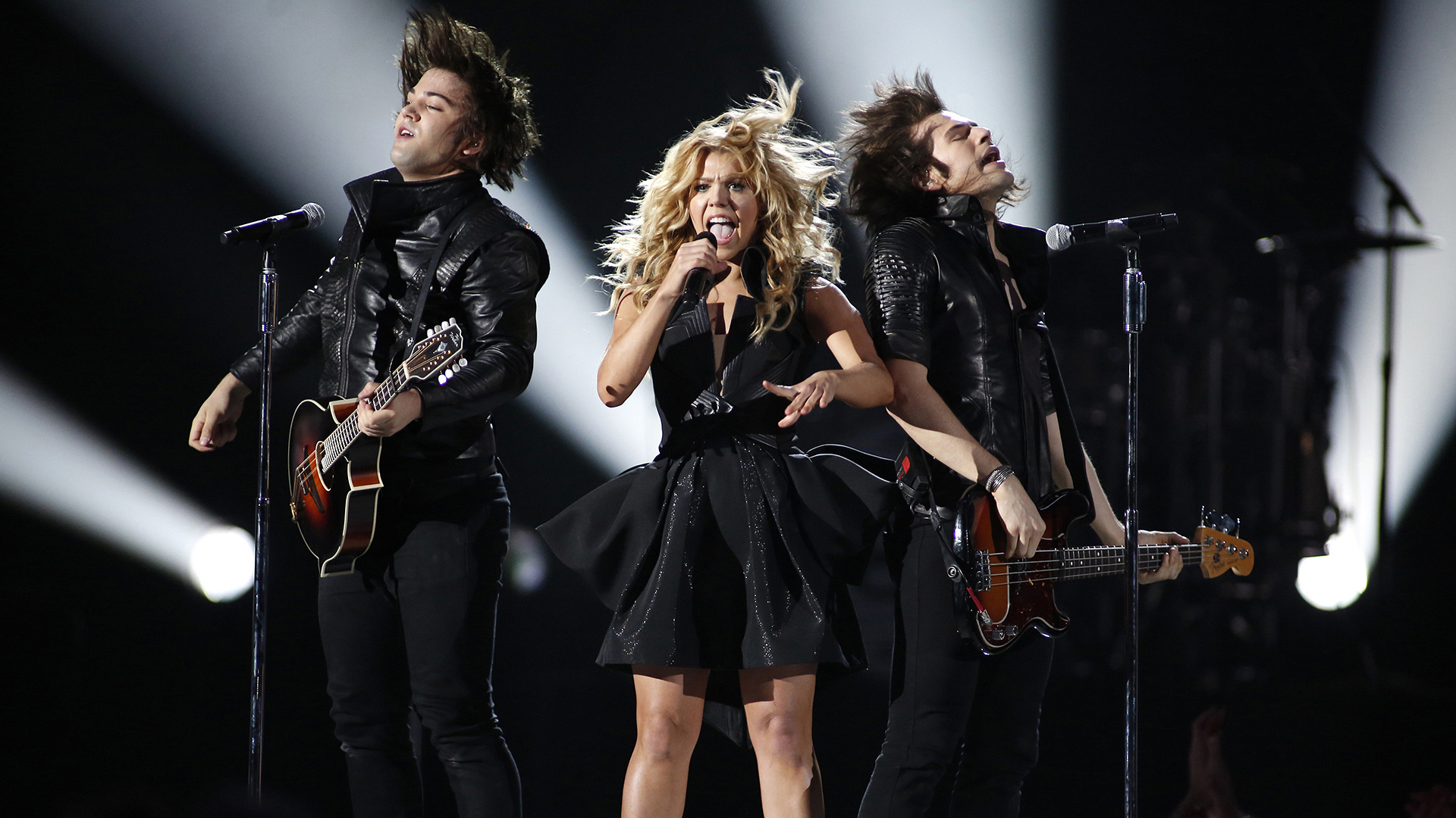 """35. The Band Perry perform """"DONE."""" at the 48th ACM Awards in 2013."""