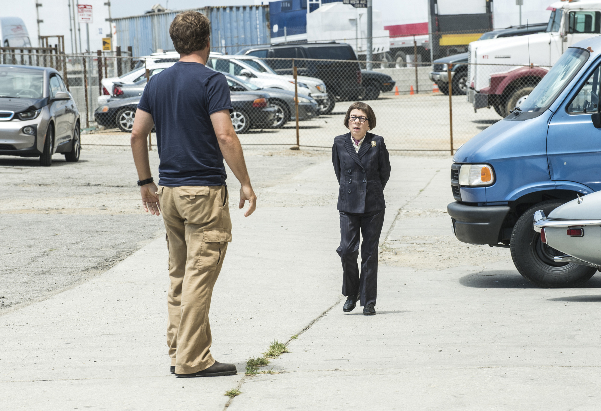 "Chris O'Donnell as Special Agent G. Callen and Linda Hunt as Henrietta ""Hetty"" Lange."