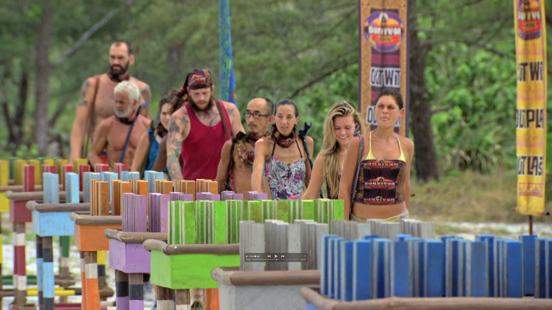 Michele leads the pack before the castaways fight for the Individual Immunity.