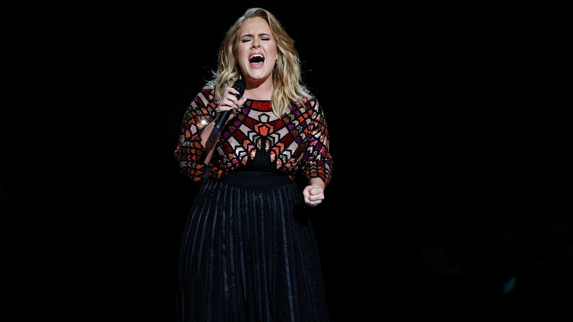 "Adele performs ""Hello"" at the 2017 GRAMMY Awards."