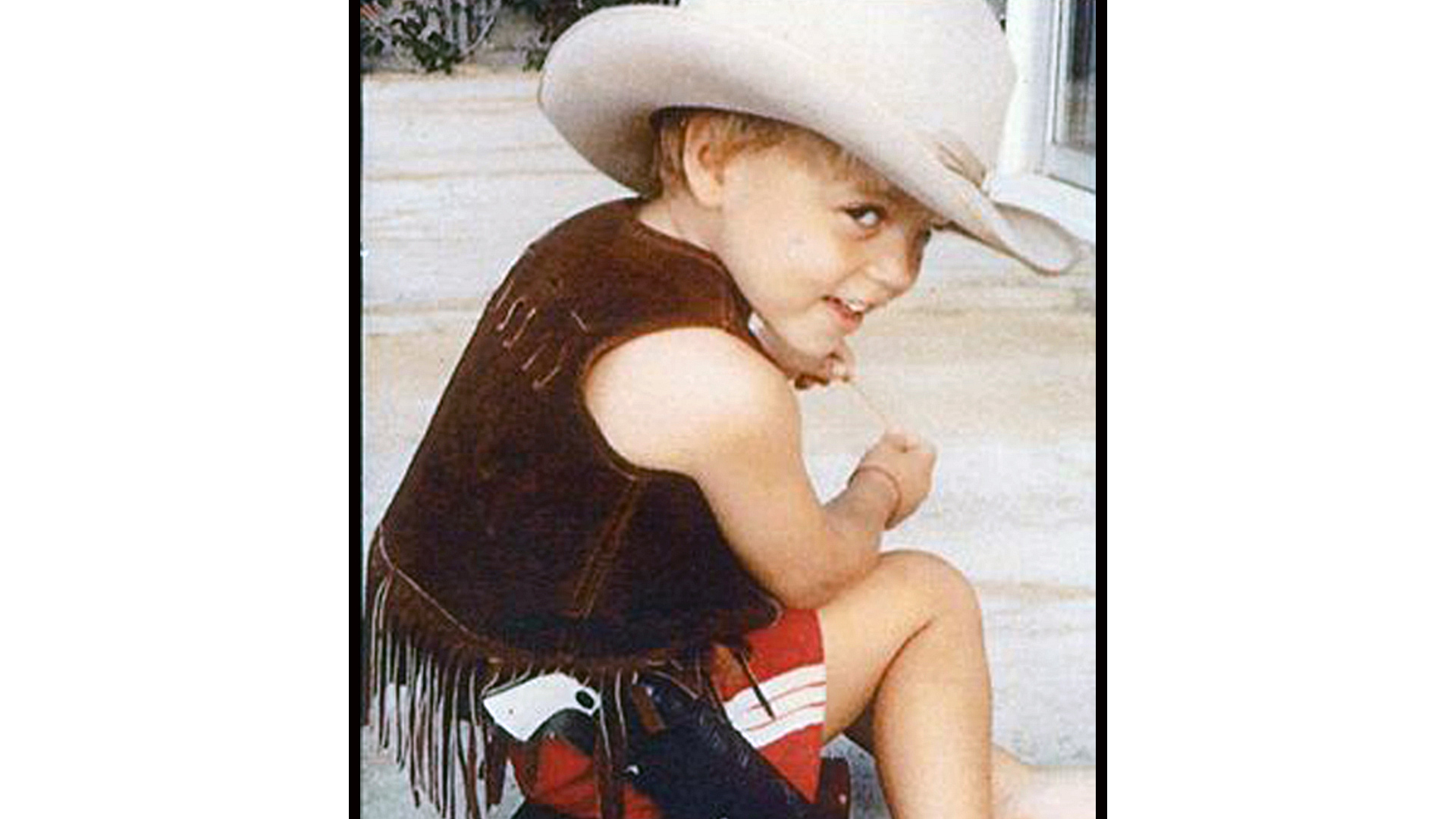 Yee-haw! Darin Brooks was quite the cute little cowboy.