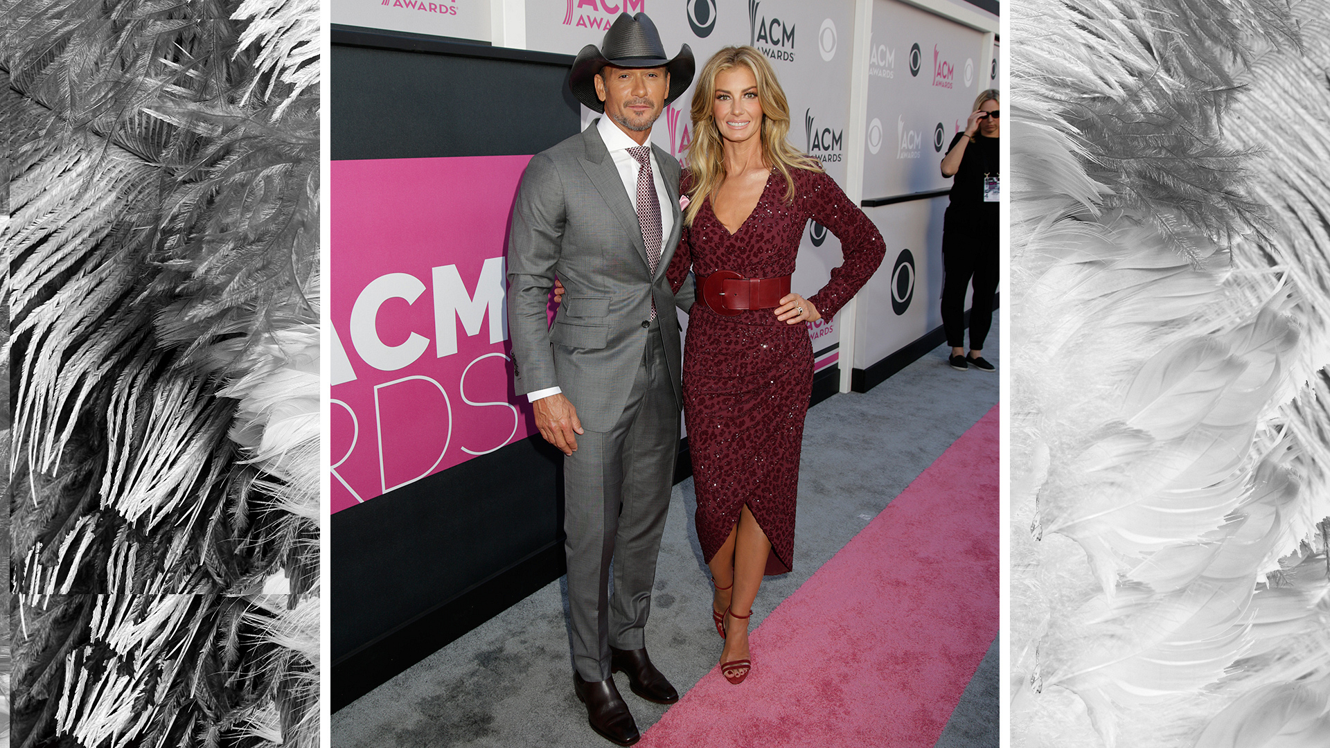 "Country legends Tim McGraw and Faith Hill look ""Humble And Kind"" in their red carpet best."