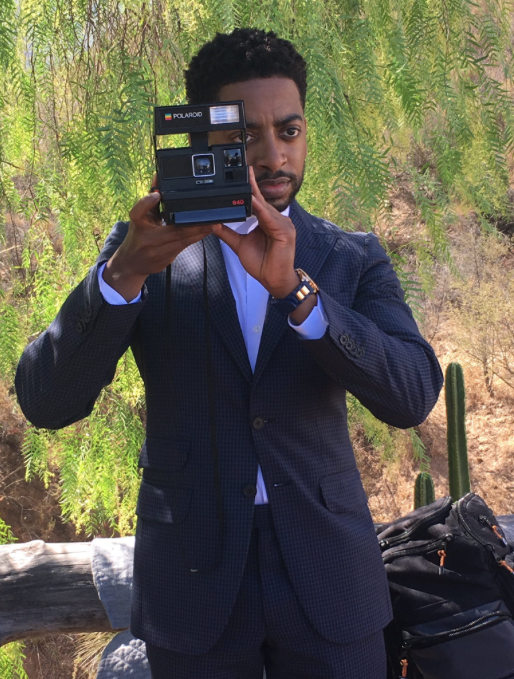 Shaun Brown gets behind the camera for a shot.