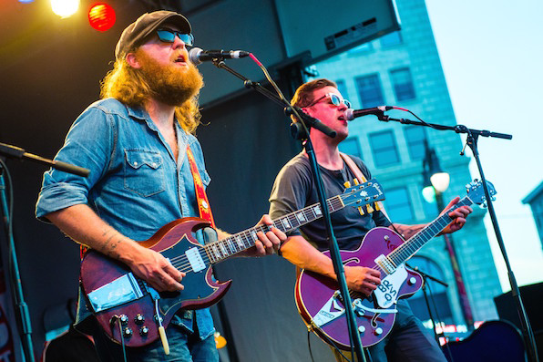 11. John and TJ Osborne of Brothers Osborne got an early start.