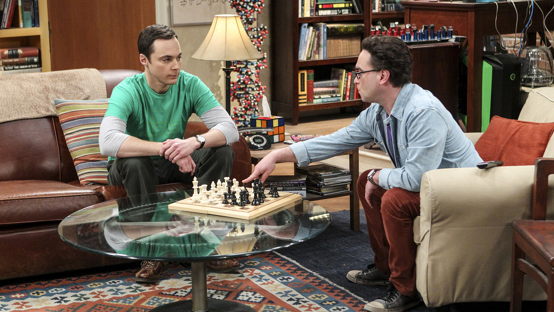 Sheldon is king of the chess castle.