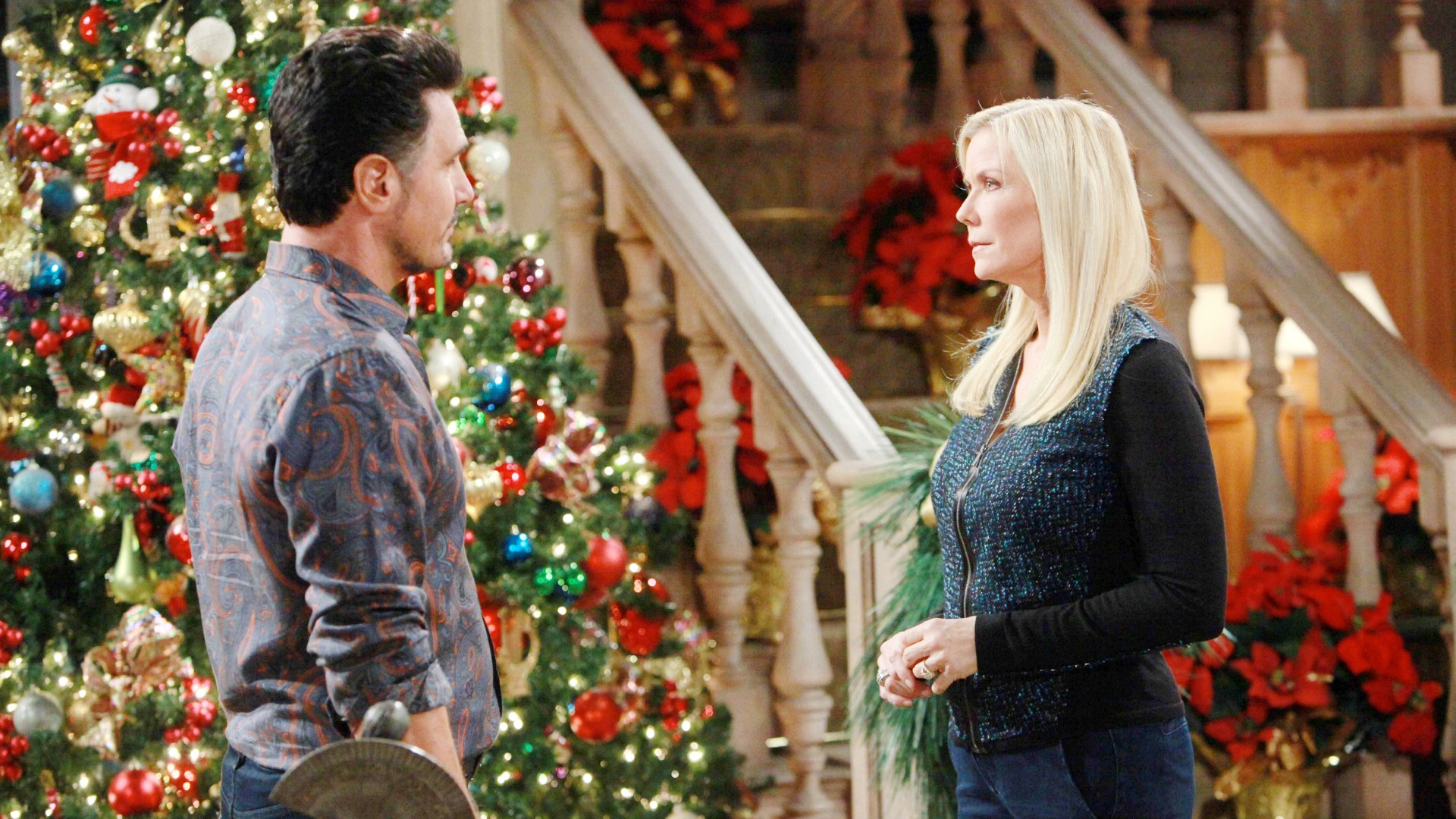 Bill's holiday is dampened when he sees Ridge's gift to Brooke.