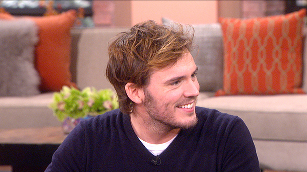 "9. Discussing ""The Hunger Games"" with Sam Claflin."