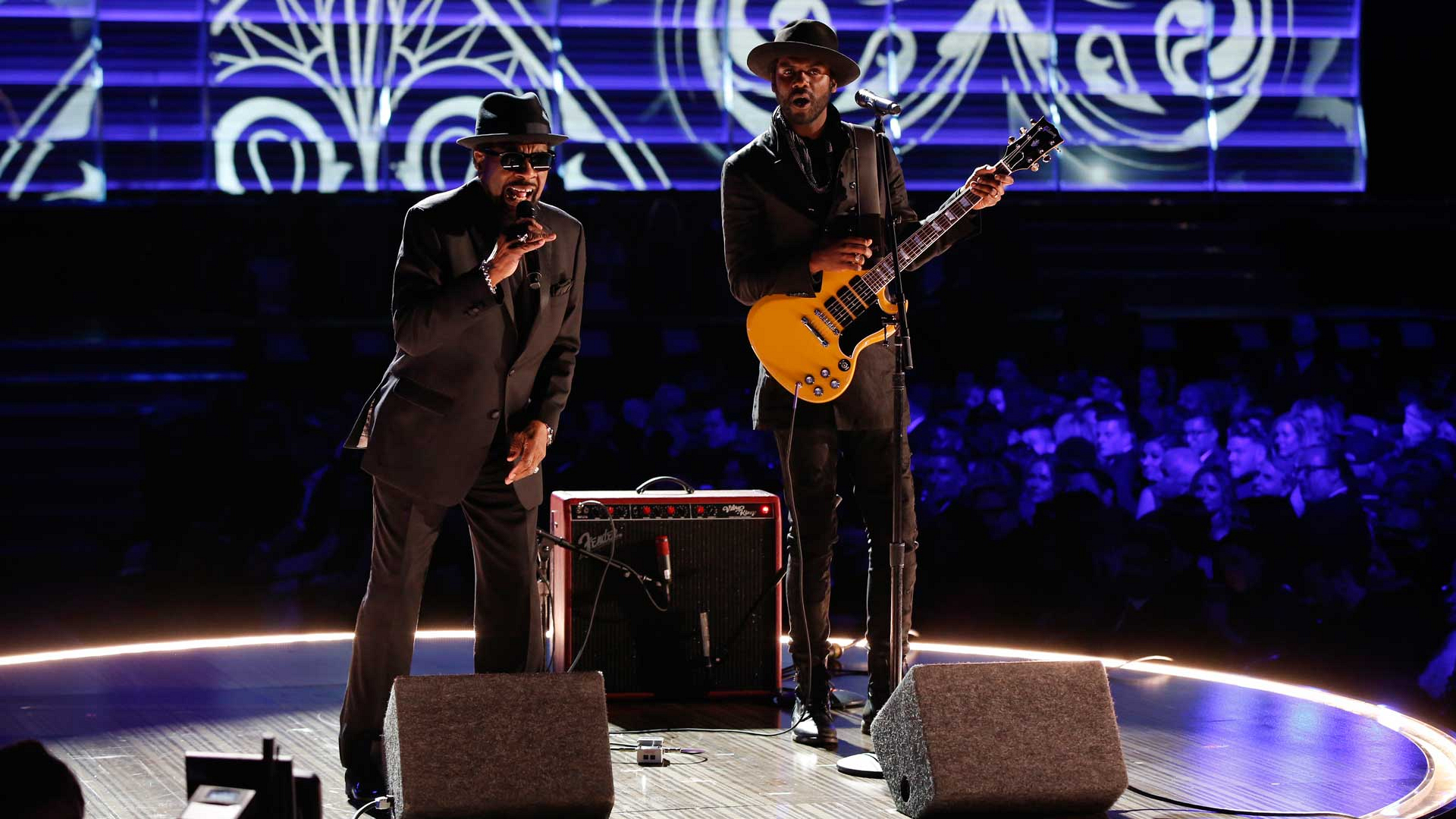 "William Bell and Gary Clark Jr. perform ""Born Under A Bad Sign"" at the 2017 GRAMMY Awards."