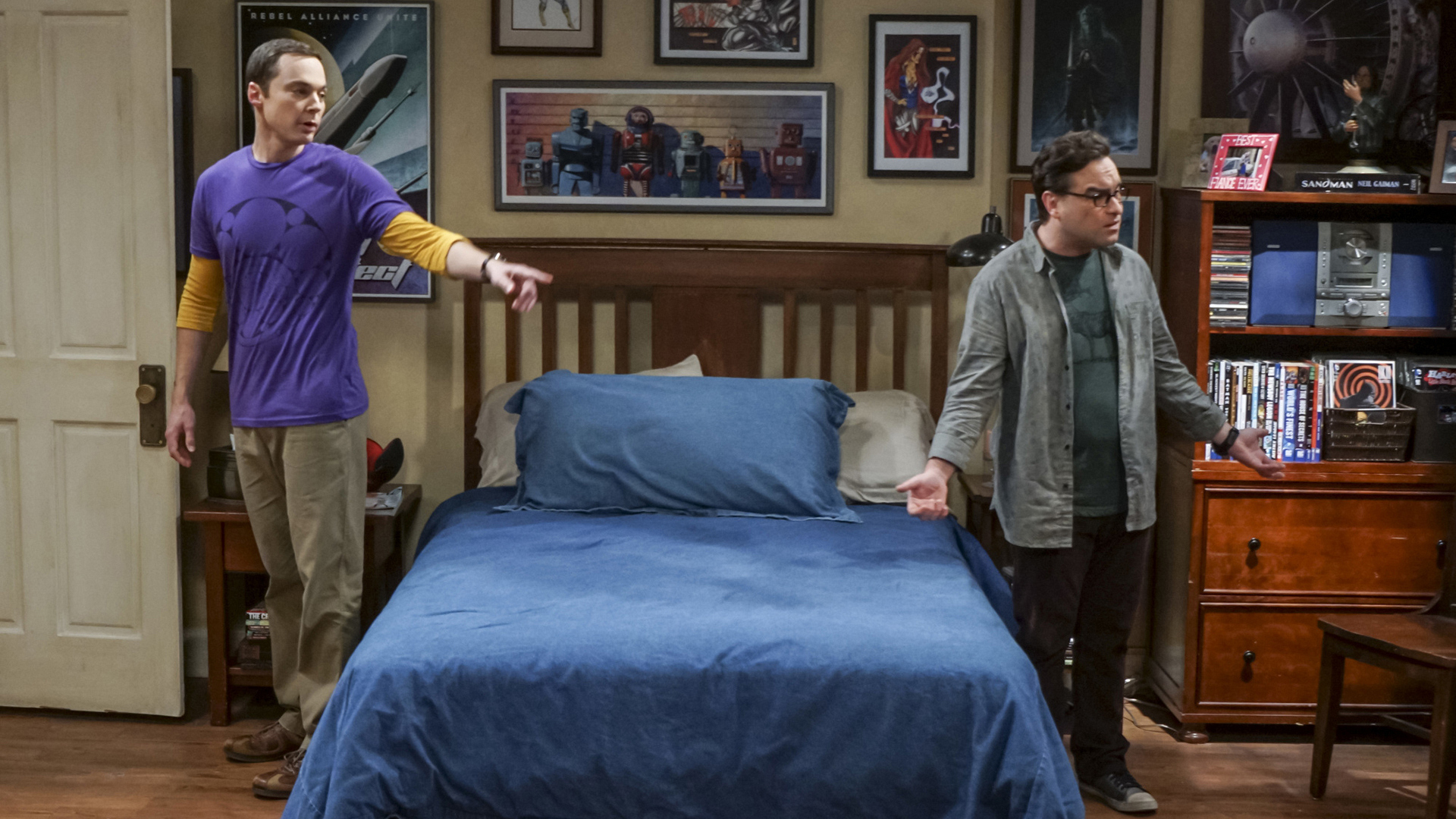 Sheldon points out that some of Leonard's collectibles have gone missing.