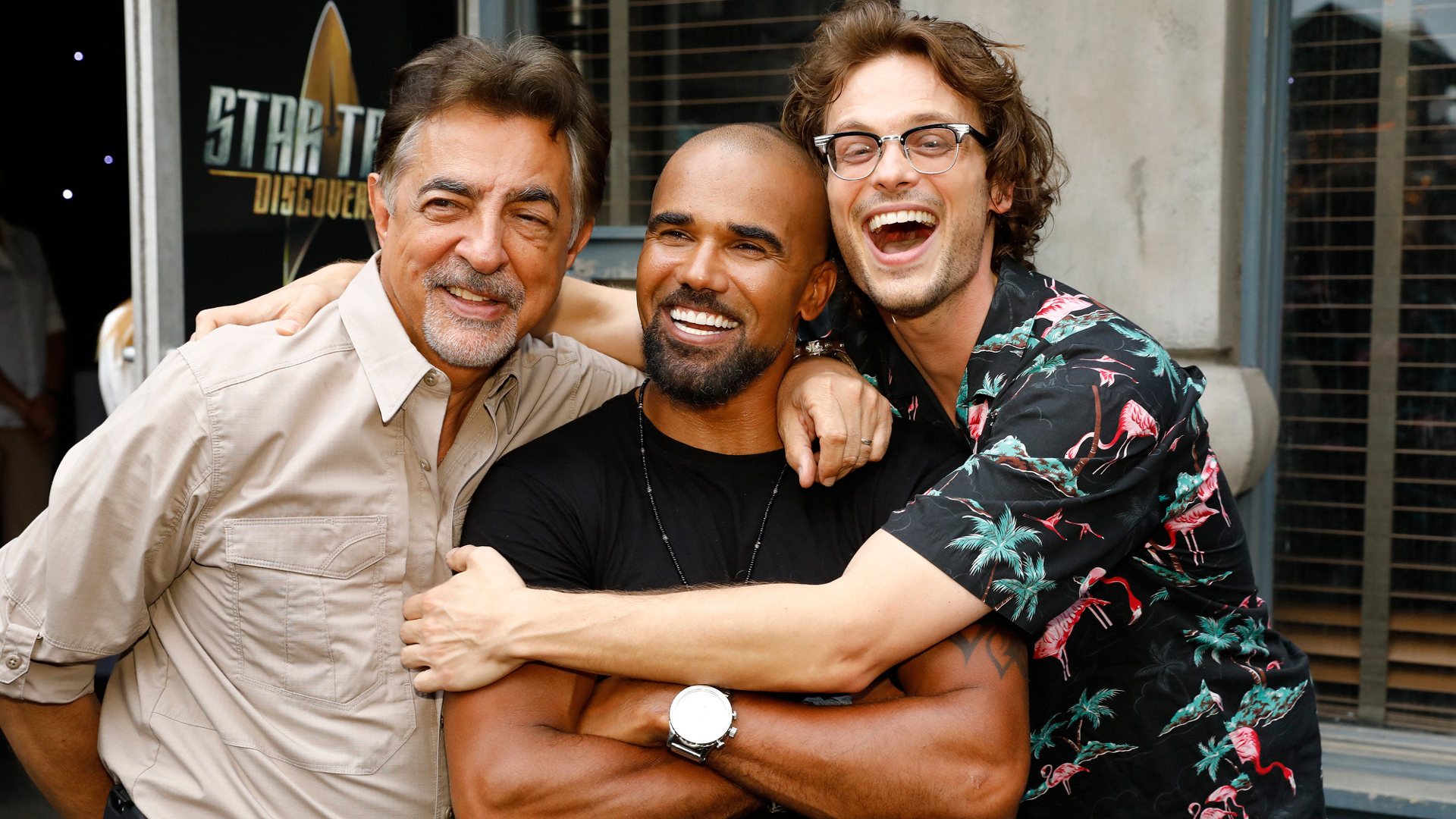 Joe Mantegna (Criminal Minds), Shemar Moore (S.W.A.T.), and Matthew Gray Gubler (Criminal Minds)