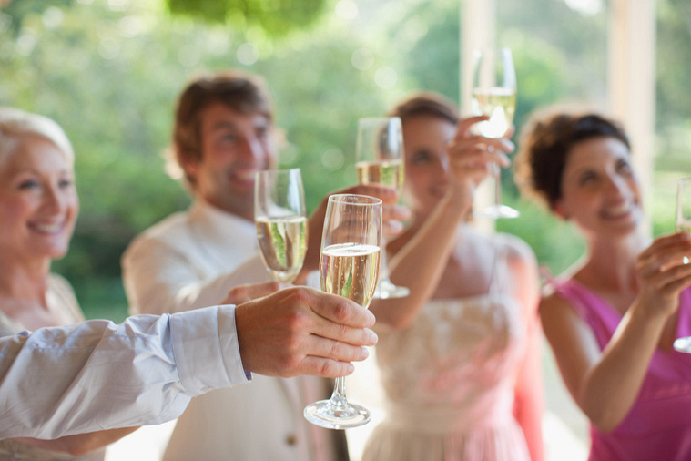 7. Being asked to give a toast for a marriage you're positive will end in divorce.