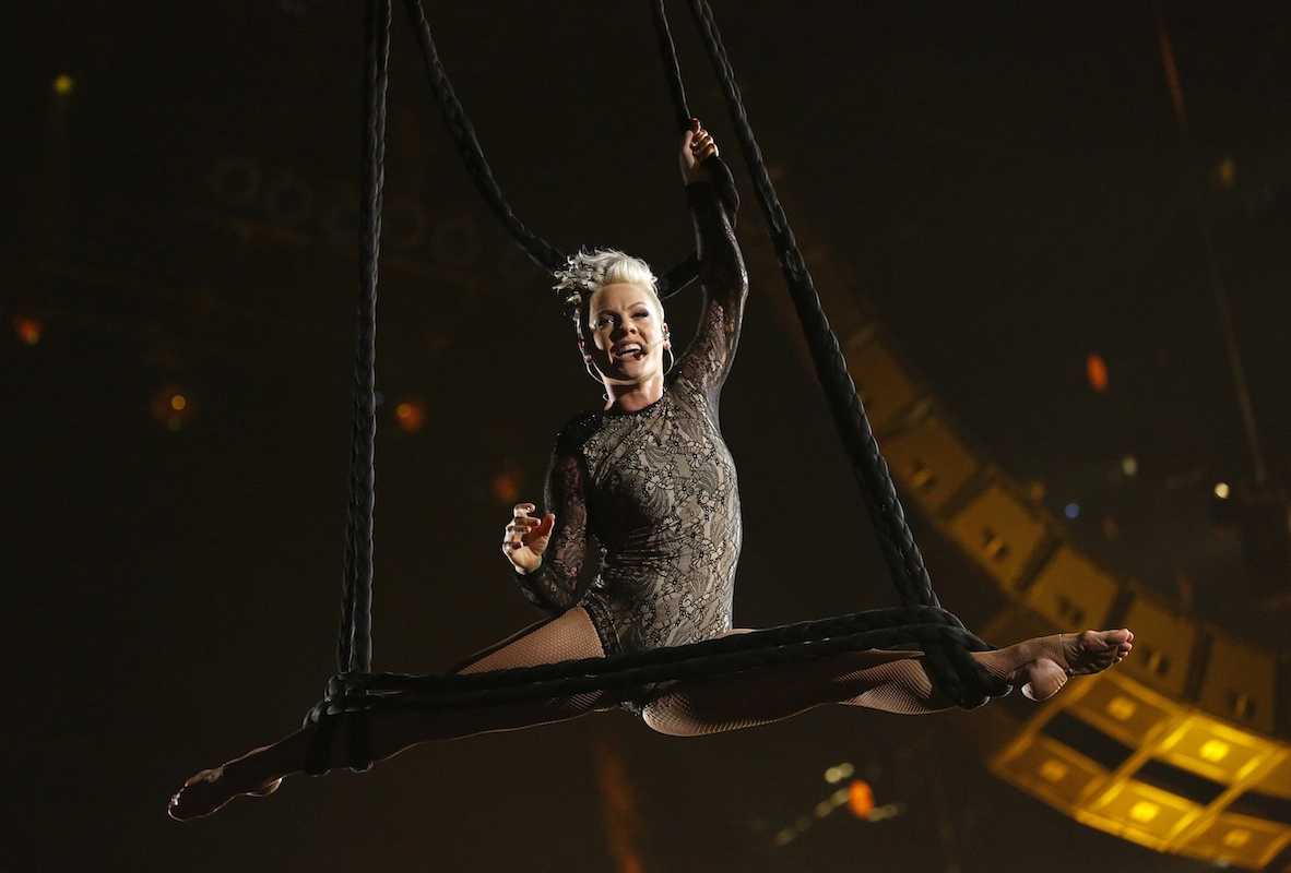 The (second) time Pink became an acrobat